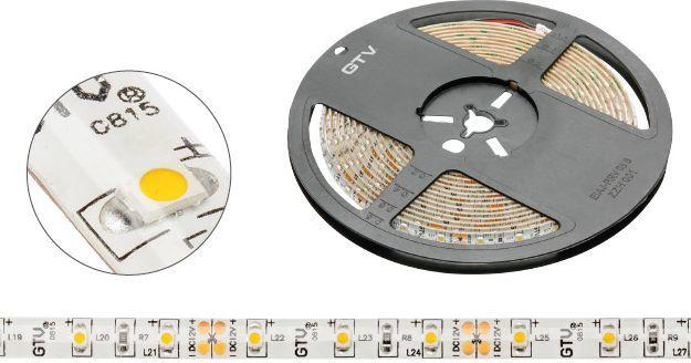 Taśma LED GTV 5m 60szt./m 4.8W/m 12V  (LD-3528-300-20-CB) 1
