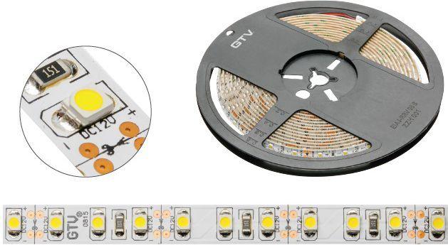 Taśma LED GTV SMD3528 5m 120szt./m 9.6W/m 12V  (LD-3528-600-20-CB) 1
