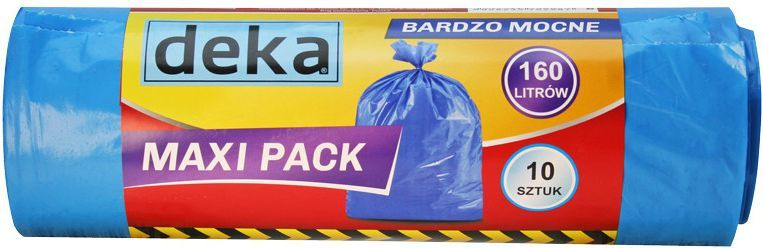 Deka Worki bardzo mocne Maxi Pack 160L niebieskie 10szt. (D-300-0102) 1