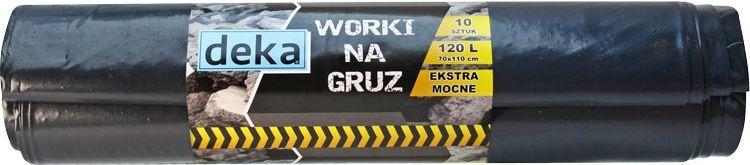 Deka Worki na gruz ekstra mocne 120L czarny (D-300-0100) 1