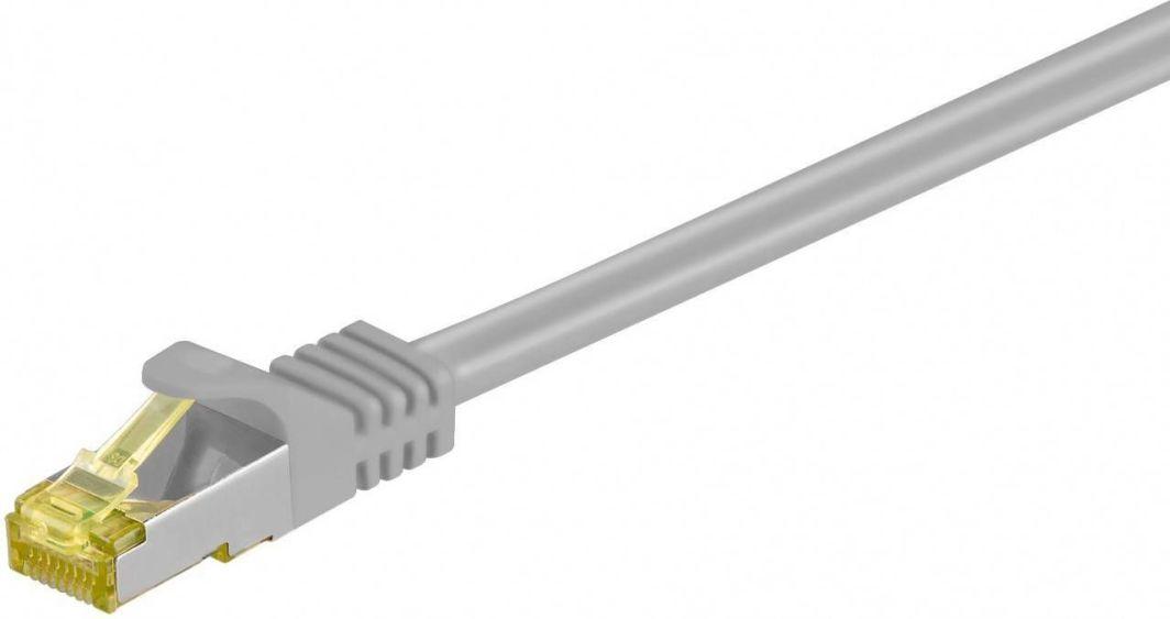 Goobay Kabel krosowy S/FTP kat.7 LSZH szary 0,5m (91576) 1