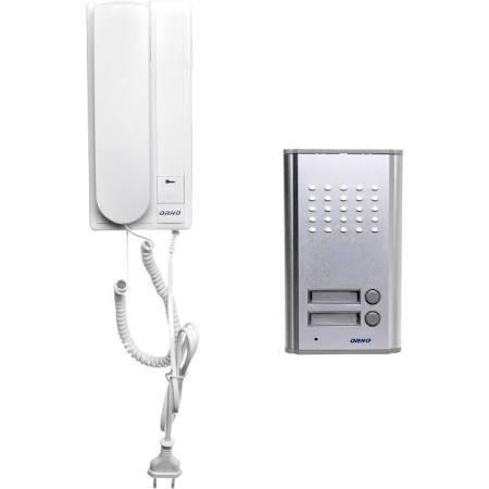 Orno Zestaw domofonowy dwurodzinny FOSSA MULTI biały/ srebny (OR-DOM-RL-903) 1