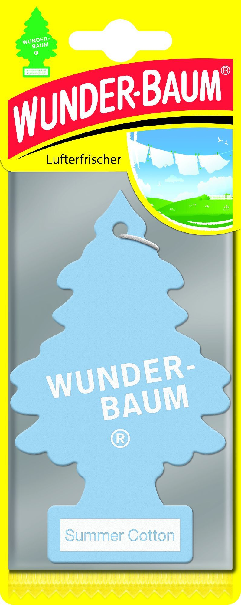 WUNDER-BAUM Papierowy zapach samochodowy Summer Cotton (23-153) 1