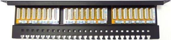 Digitus Patch panel kompletny 19 cali 24x RJ45 U/UTP kat. 6 1U z tacką czarny RAL 9005 (DN-91624U-EC) 1