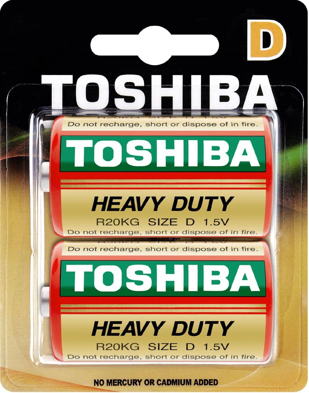Toshiba Bateria Heavy Duty D / R20 2szt. 1
