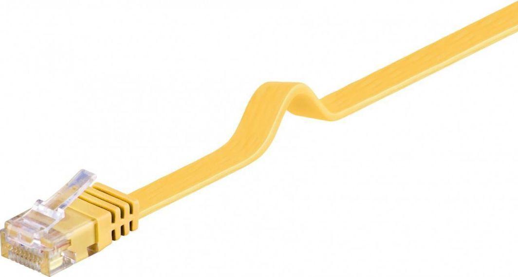 Goobay Kabel krosowy płaski patchcord U/UTP kat.6 żółty 1m (96402) 1