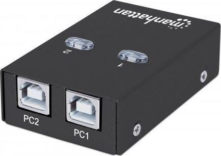 Przełącznik Manhattan Przełącznik automatyczny Hi-Speed USB 2.0 2 PC (162005) 1