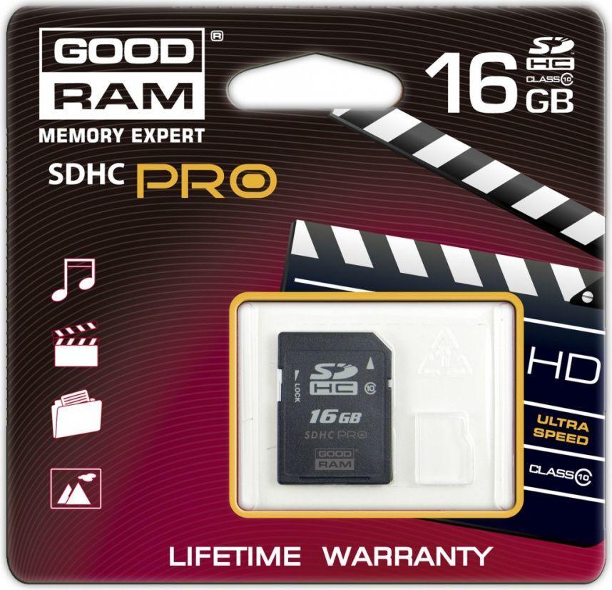 Karta GoodRam SDHC 16 GB Class 10  (SDC16GHC10PGRR9) 1