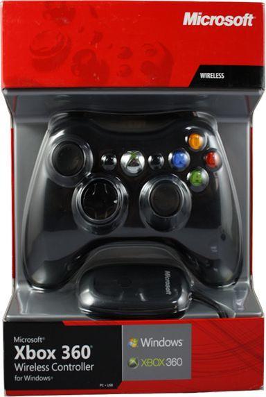 Gamepad Microsoft Xbox 360 Wireless Controller Black (JR9-00010) - odbiornik do PC w zestawie 1