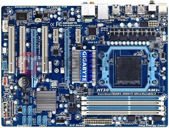 Płyta główna Gigabyte GA-870A-USB3 AMD 870 Socket AM3+ (2xPCX/DZW/GLAN/SATA3/USB3/RAID/DDR3) (GA-870A-USB3) 1