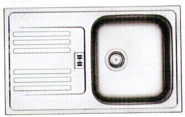 Franke Zlewozmywak 1-komorowy EFL 614 z ociekaczem 78 x 47,5cm inox (101.0058.089) 1