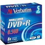 Verbatim DVD+R DL 8.5 GB 8x 5 sztuk (43541) 1