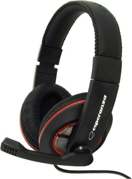 Słuchawki z mikrofonem Esperanza EH118 1