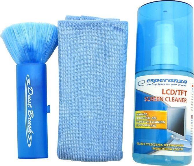 Esperanza Zestaw czyszczący płyn + ściereczka + czyścik do ekranów LCD/TFT (ES112) 1