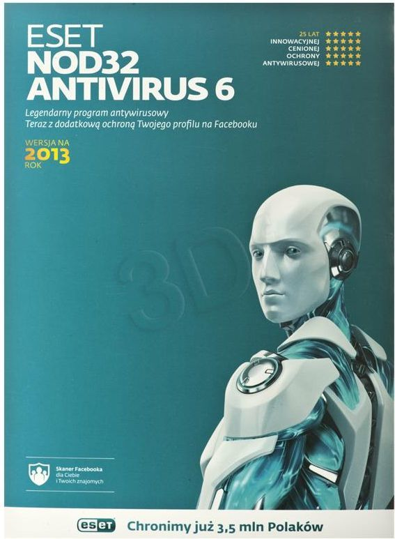 ESET NOD32 AntiVirus 1 stanowisko 3 lata Kontynuacja (ENA-K-3Y-1D) 1