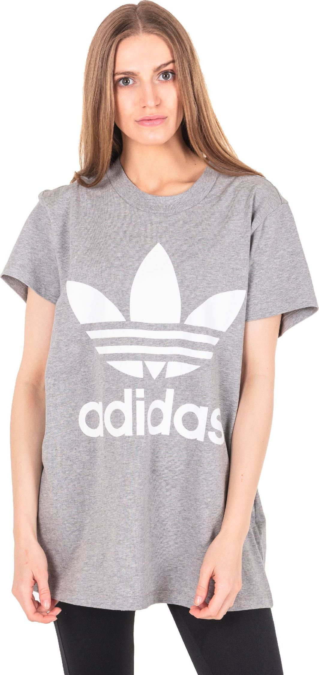 Adidas Koszulka damska Originals Trefoil Tee CY4762 CY4762 szara r. 40 (CY4762) ID produktu: 4000096
