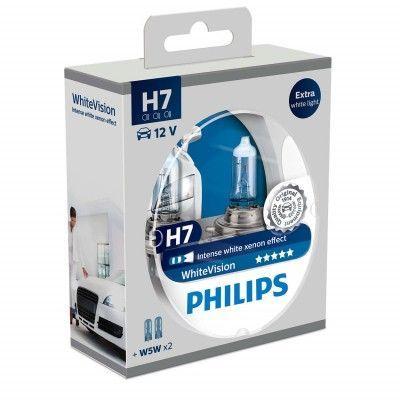 Philips Żarówka H7 Whitevision 55W PX26D 12V 3700K 1500LM (78888728) - 2 szt 1
