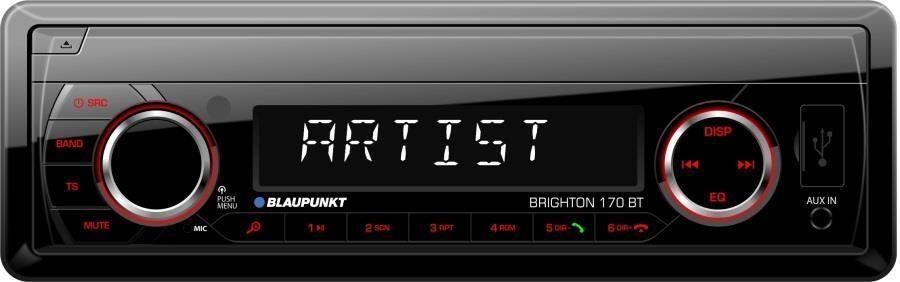 Radio samochodowe Blaupunkt Brighton 170BT MP3|USB|AUX|4x40W|pilot|BLUETOOTH 1
