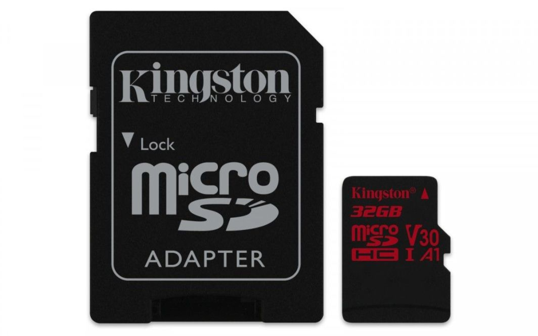 Karta Kingston Canvas React MicroSDHC 32 GB Class 10 UHS-I A1 V30 (SDCR/32GB) 1