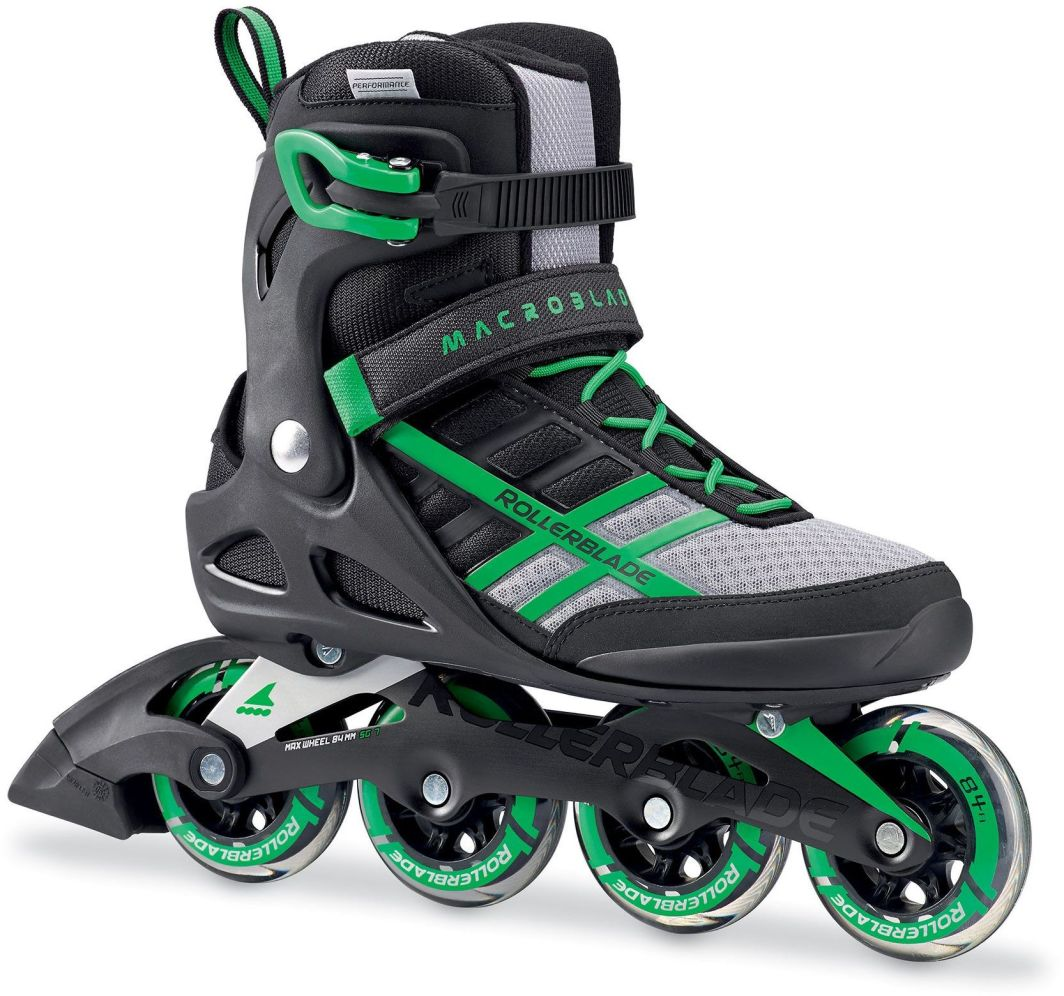 Rollerblade Łyżworolki męskie Macroblade 84 czarno-zielone r. 44 (07734600T83) 1