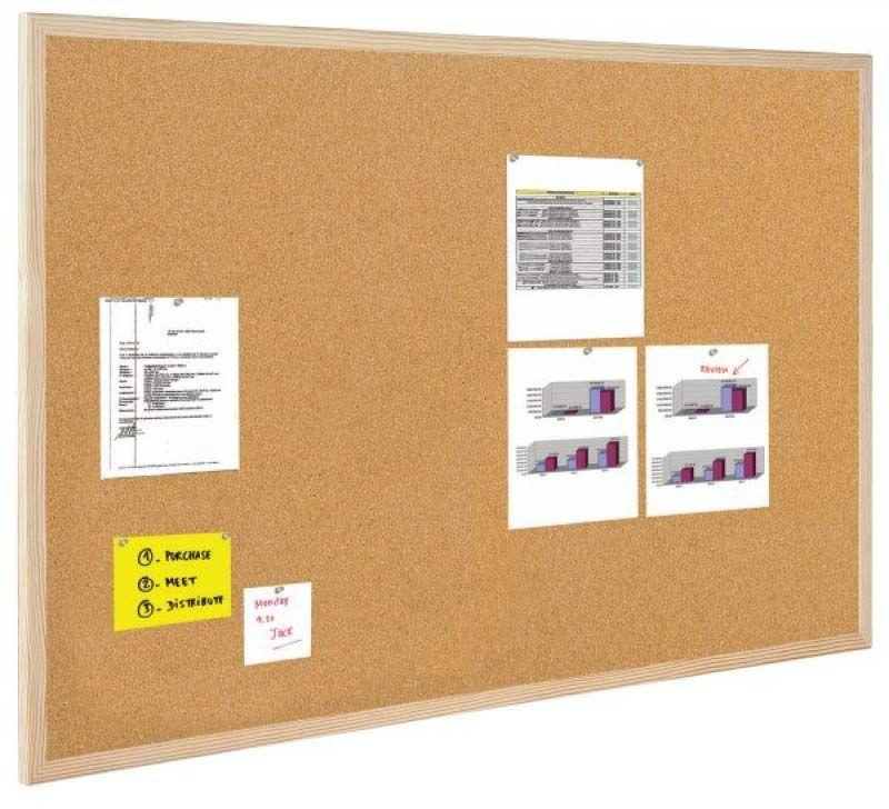 BI-OFFICE Tablica korkowa 50X40CM Rama drewniana (GMC570012010) 1