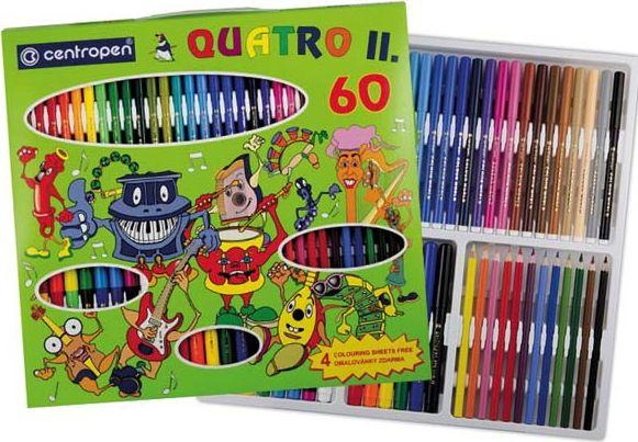 Centropen Zestaw Małego Artysty: Flamastry+Kredki+Markery+Kolorowanki (9396) 1