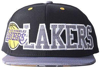 Adidas Czapka z daszkiem Los Angeles Lakers Flat Cap czarno szara (AY6128*OSFL) ID produktu: 4007861
