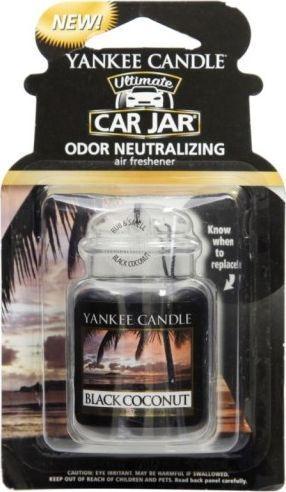 Yankee Candle Car Jar wiszący odświeżacz do samochodu Black Coconut 1