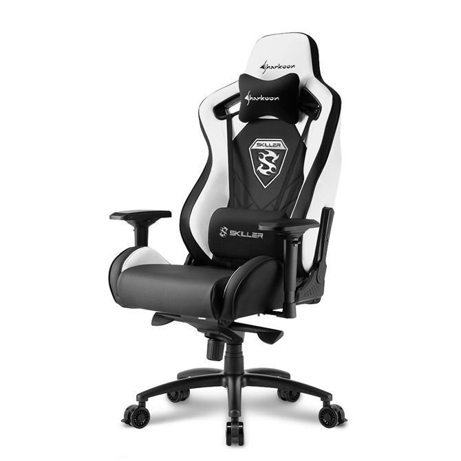 b93dc3e18d8b3 Sharkoon Skiller SGS4 Gaming Seat - black/white - 4044951021741 w Morele.net