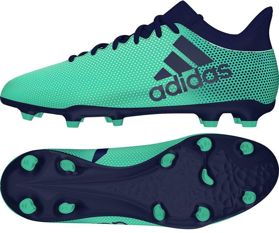 Adidas Buty piłkarskie X 17.3 FG zielone r. 39 13 (CP9194) ID produktu: 4035278