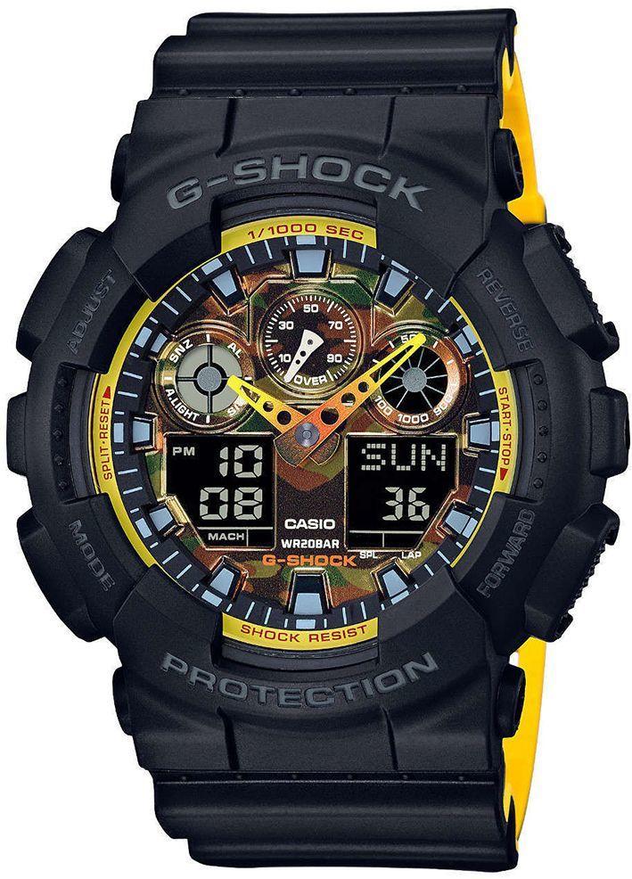 Zegarek Casio Zegarek męski G-Shock czarny (GA-100BY-1AER) 1