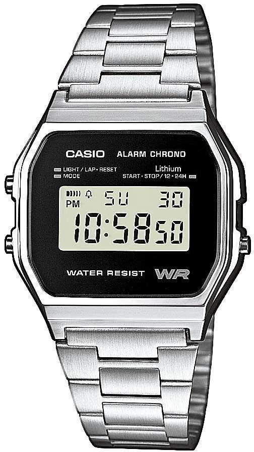 Zegarek Casio Zegarek męski Retro Silver srebrny (A158WEA-1EF) 1