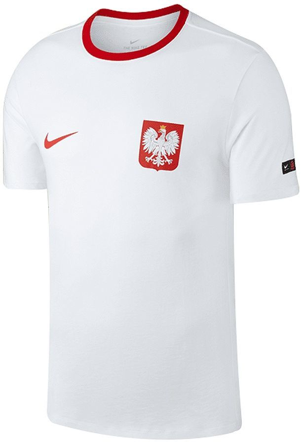 Nike Koszulka męska Reprezentacji Polski Pol M NK Tee Crest białe r. L (888354 100) 1