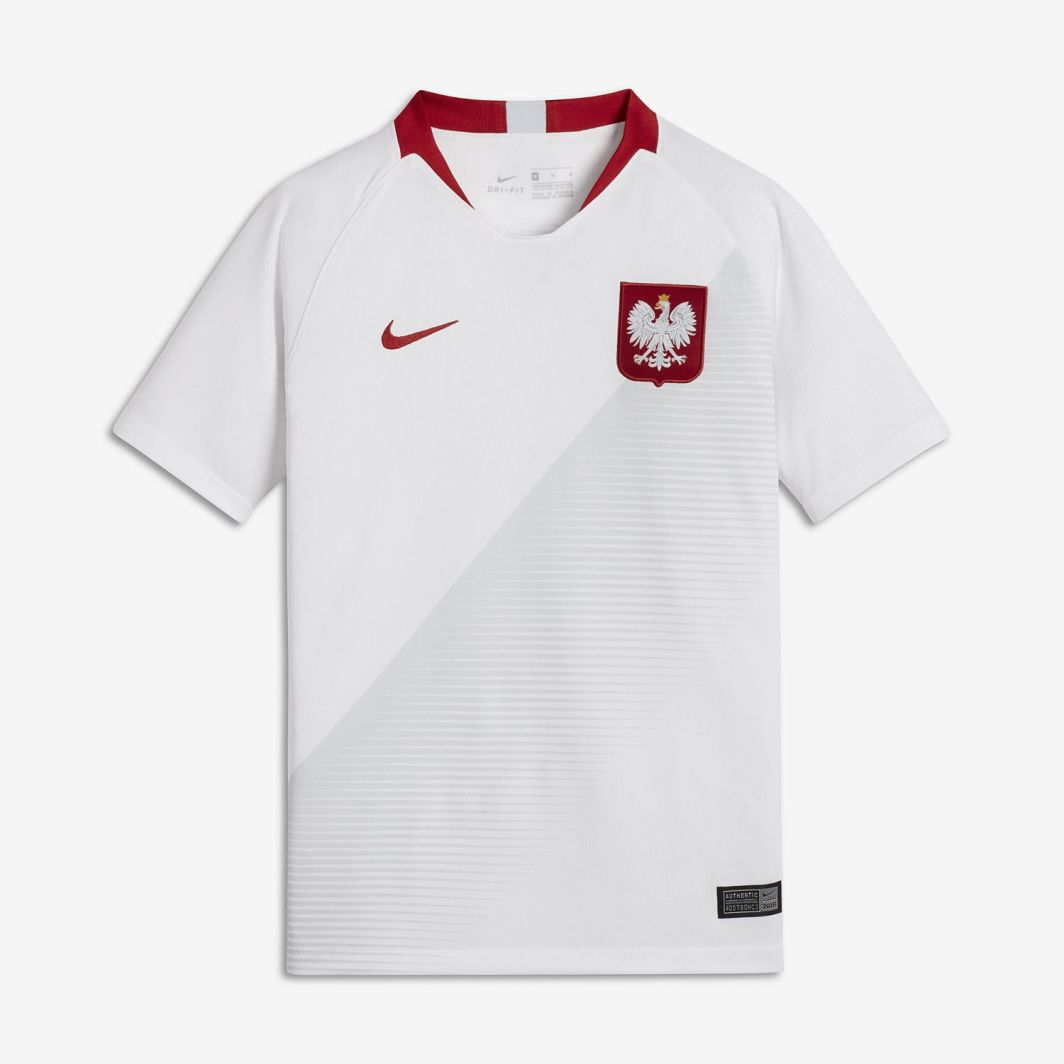 76bc055bf Nike Koszulka piłkarska Reprezentacji Polski Stadium JSY Home biała r. XS  (122-128cm) (894015 100) w Sklep-presto.pl