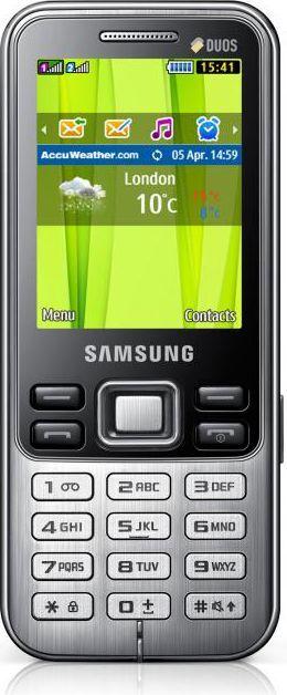 Telefon komórkowy Samsung GT-C3322 Metallic Black (GT-C3322HKAXEO) 1