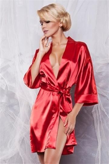 Dkaren Peniuar Scarlett 90 Czerwony r. XL 1