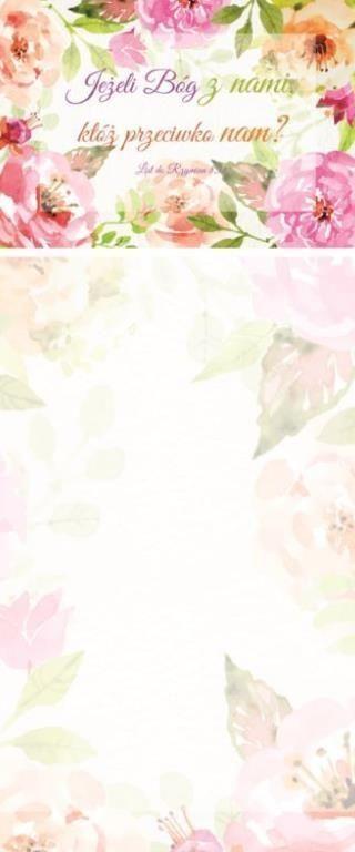 Szaron Notes z Magnesem - Jeżeli Bóg z nami - Kwiaty (278223) 1