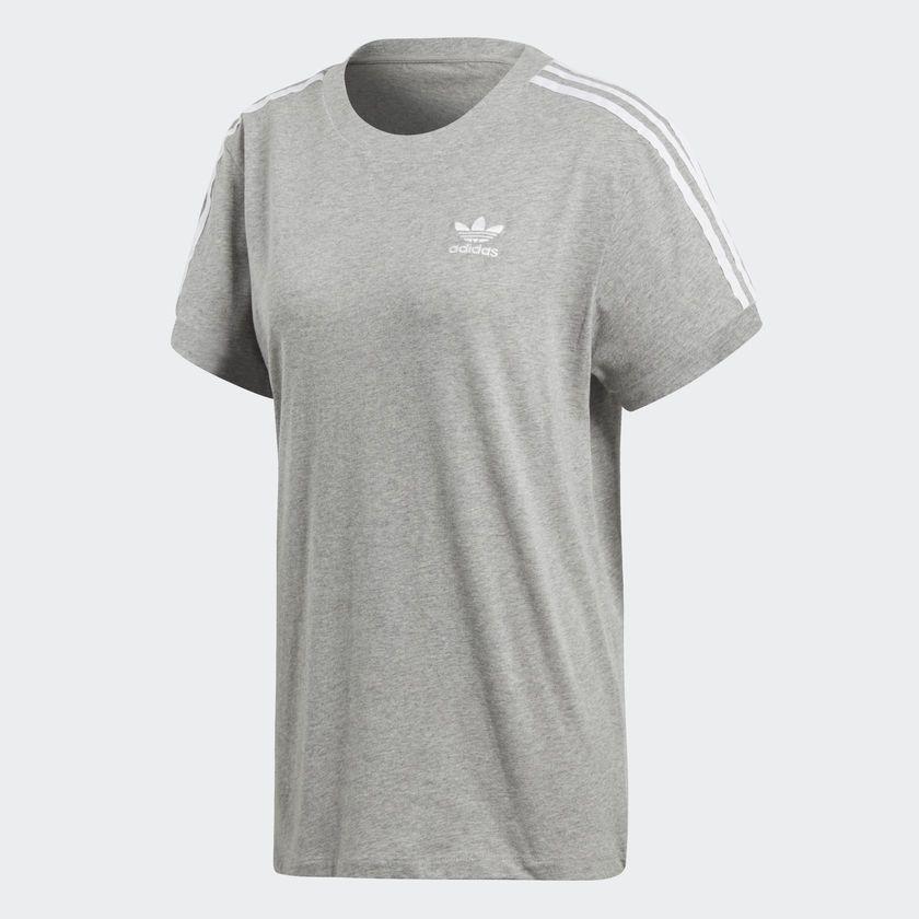 Adidas Koszulka damska Originals 3 Stripes szara r. 40 (CY4982) ID produktu: 4096328