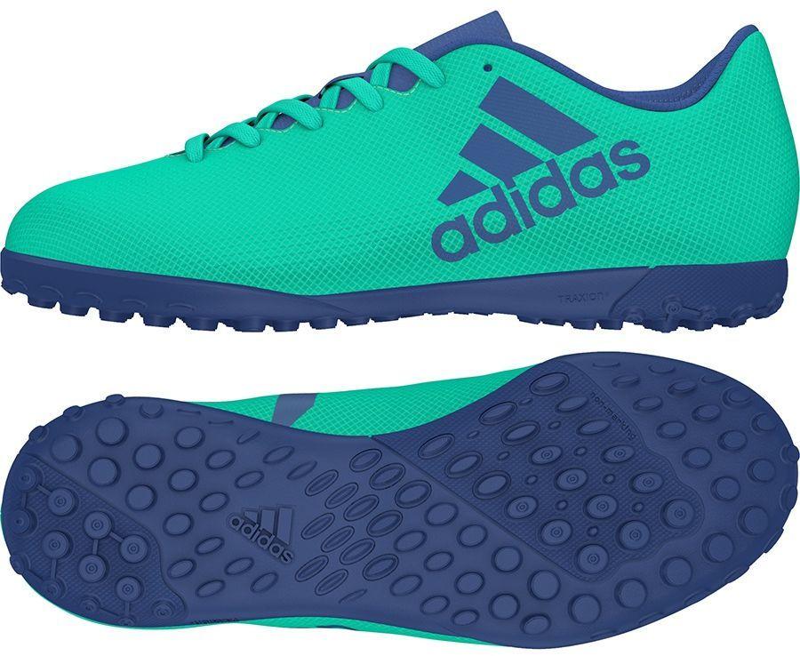 Adidas X Tango 17.4 TF buty piłkarskie dziecięce, zielony CP9045 Ceny i opinie na Skapiec.pl