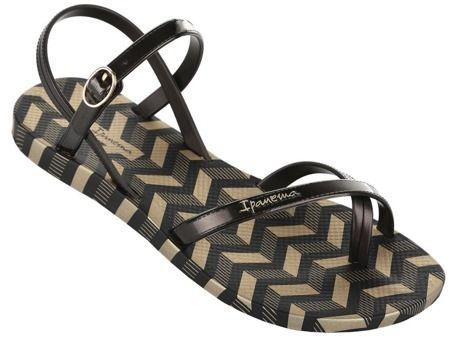 Ipanema Sandały damskie Fashion Sandal V Fem czarno-złote r. 35/36 1