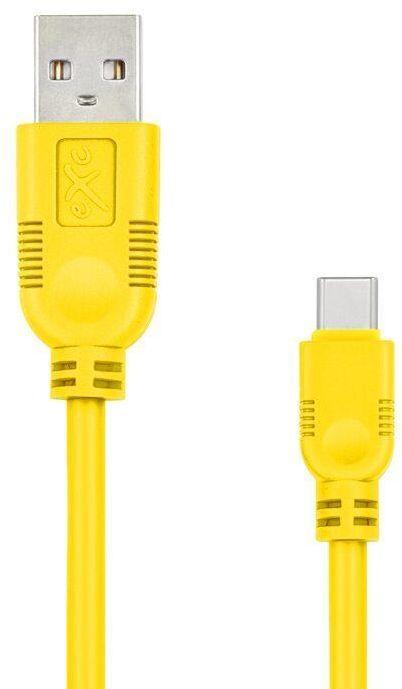 Kabel USB eXc  USB 3.1 TYPU C(M) 5-pin, 0.9m, żółty (5901687939346) 1