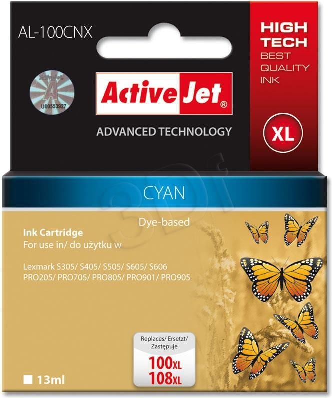 Activejet tusz AL-100CNX / 14N1069E nr 100XL (cyan) 1