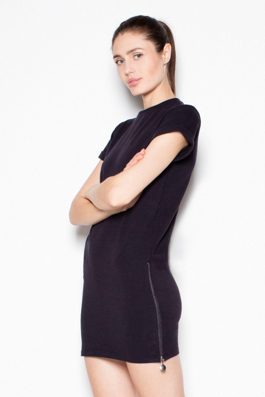 Venaton Sukienka VT070 Czarny r. S (VT070CZS) 1