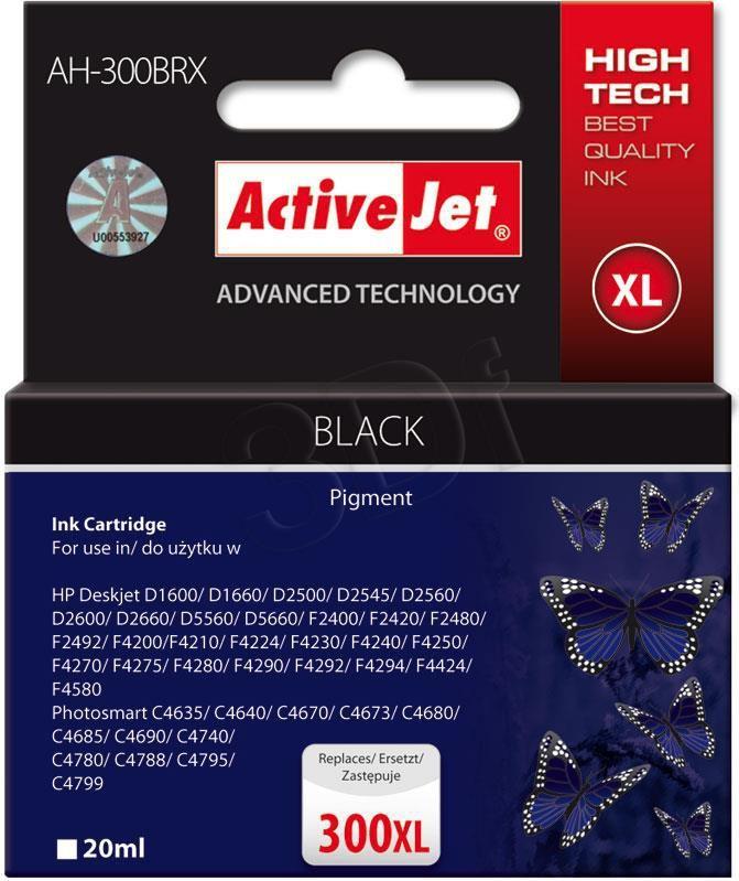 Activejet tusz AH-300BRX / CC641EE nr 300XL (black) 1