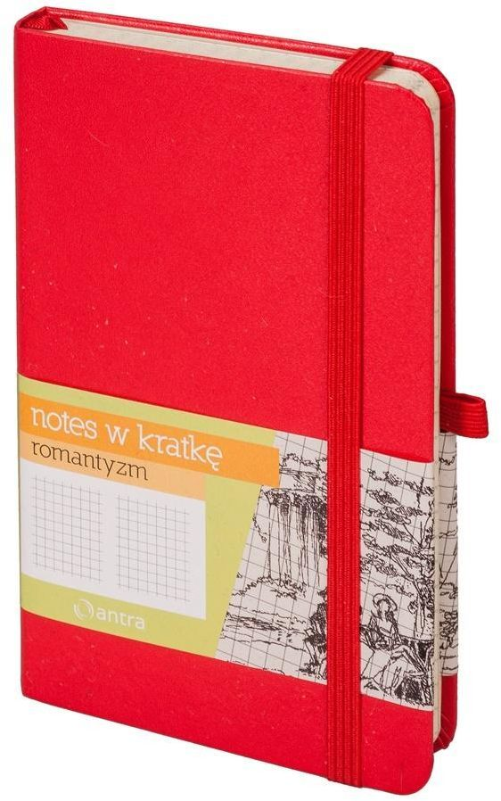 Antra Notes A6 Kratka Romantyzm Czerwony 1