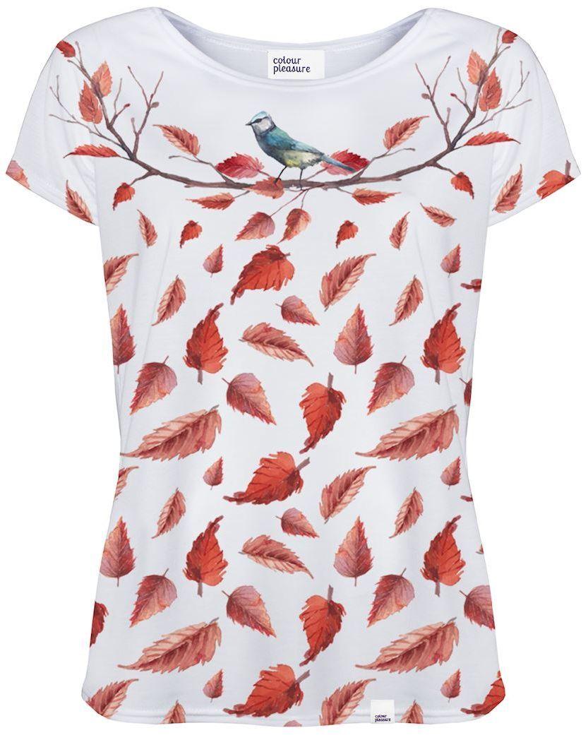 f6296f039e Colour Pleasure Koszulka damska CP-034 265 biało-czerwona r. XS S w ...