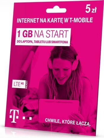 Karta Startowa - T-MOBILE 5 Internet 1GB 1