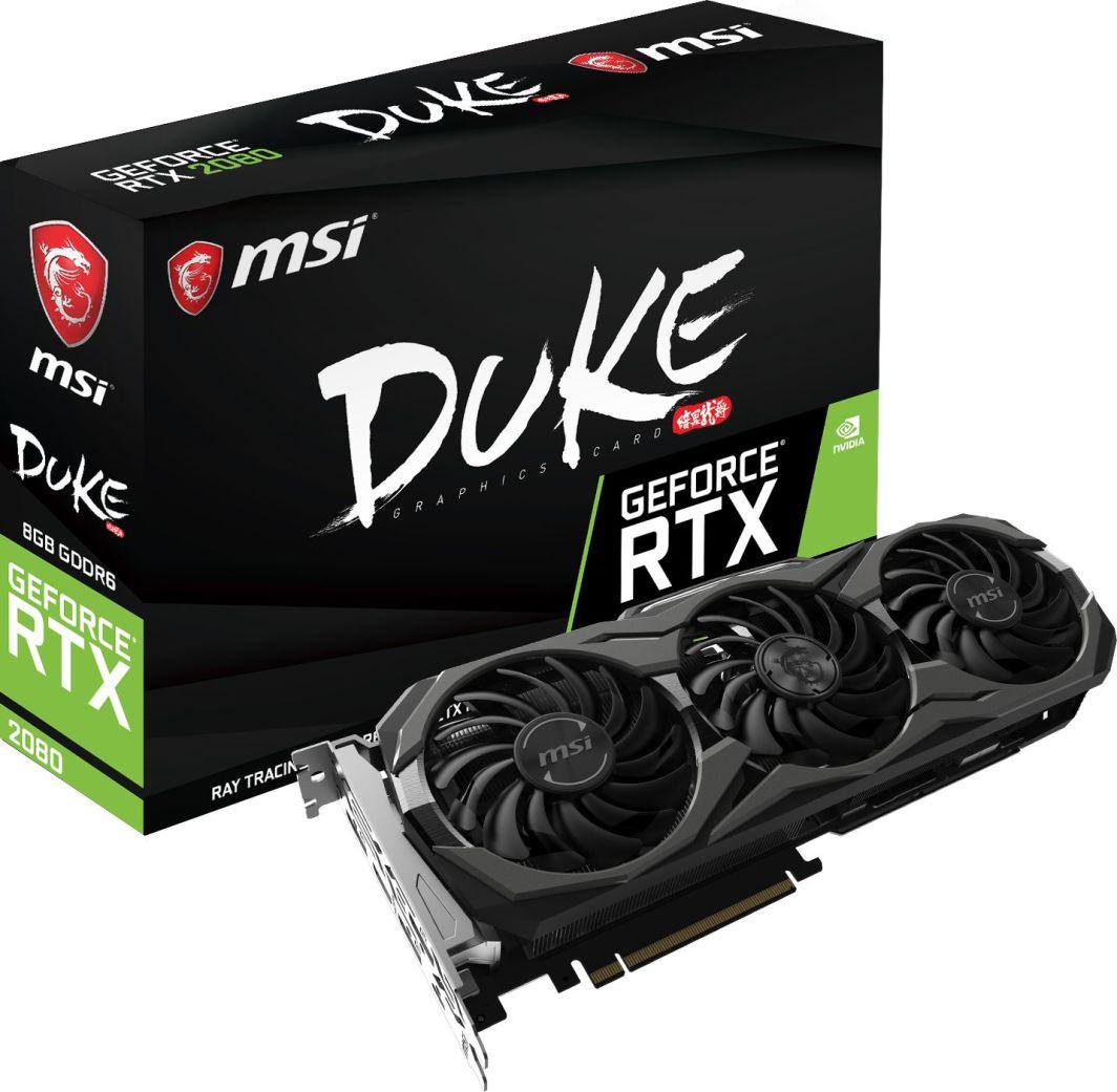 Karta graficzna MSI GeForce RTX 2080 Duke OC 8GB GDDR6 (RTX 2080 DUKE 8G OC) 1
