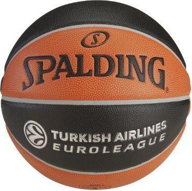 61df29f94c9f7 Spalding Piłka Do Koszykówki Euroleague TF 1000 Legacy Spalding Pomarańczowy Czarny  7 w Sklep-presto.pl