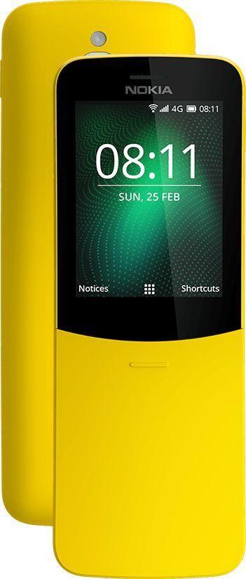Telefon komórkowy Nokia 8110 4G DS Żółty (16ARGY01A05) 1